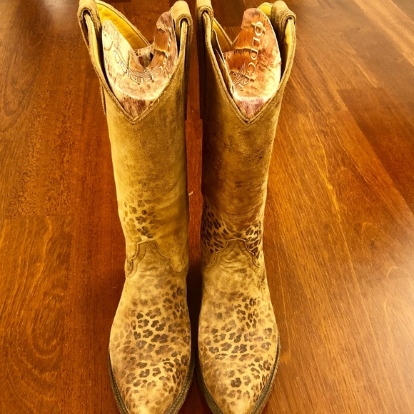 0720bc9d80b Old Gringo Leopardito Cowboy Boots Womens 7M